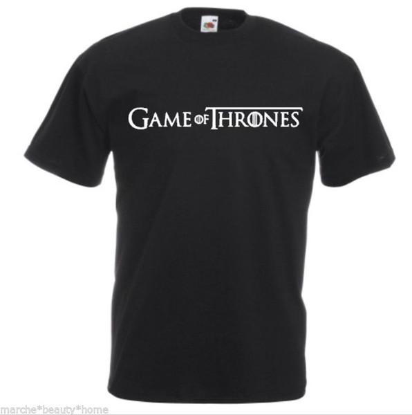 GAME OF THRONES slogan t-shirt mens large black fotl high quality Lwhite black grey red trousers tshirt
