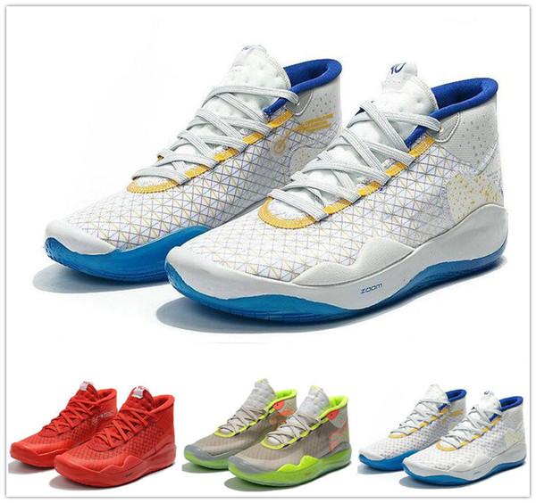 2019 горячие мужчины спортивная обувь кевин дюрант 12 черный серый красный кроссовки KD 12s мужская баскетбольная обувь дизайнерская обувь