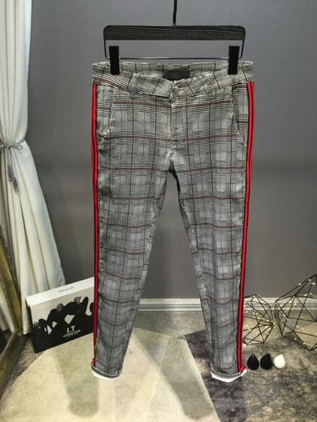 2019 Denim Pants Designer Trousers Men's New Fit Pencil Pants Long Trousers High Street Clothing new