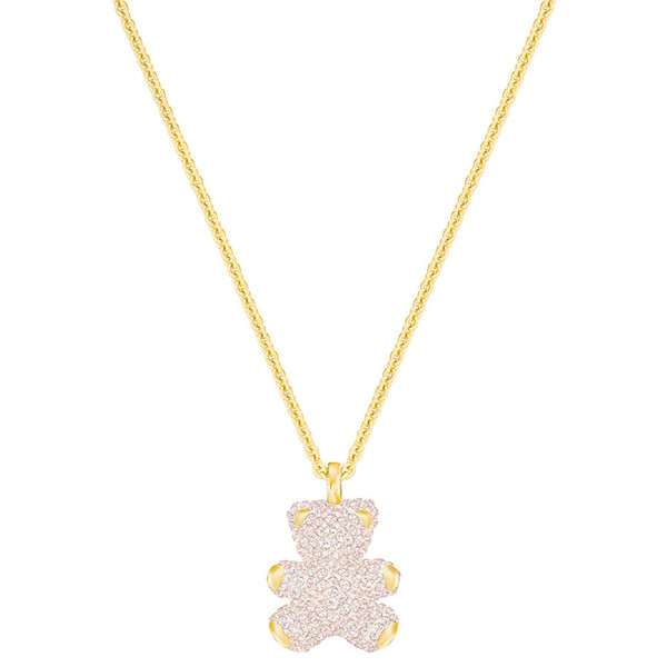 Swarovski 3D stereo teddy bear necklace female clavicle chain Full diamond cute bear necklace gift for girlfriend fashion versatile 5345683