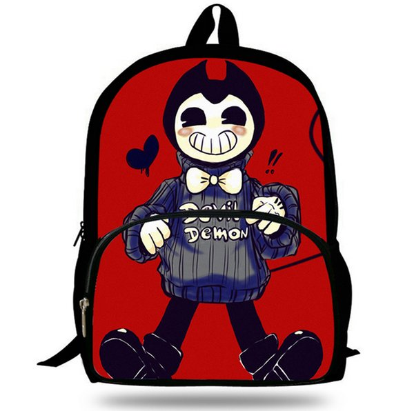 Bendy and The Ink Machine Printing School bag rucksack Boys and girls School gift Laptop bag Large capacity students package Fashion L22
