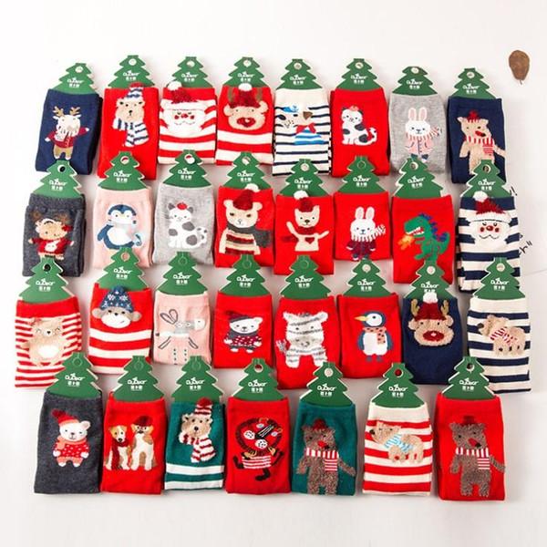 Nuovi bambini di arrivo abbastanza nuovo anno Calzini dei bambini del fumetto Calzini in caldo cotone caldo di vendita del bambino di Natale Calzini