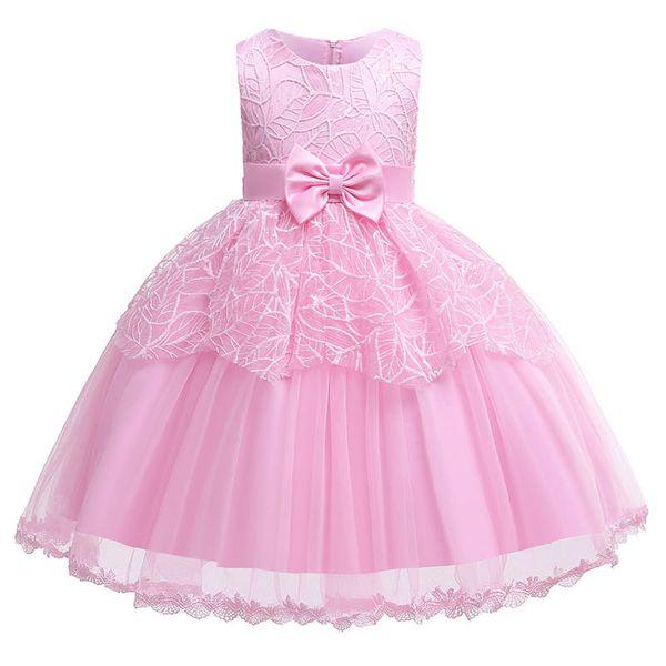 New lace flower girl dresses for wedding princess dress baby dresses little girls clothing Party Dress Formal Dresses girls clothes A5402