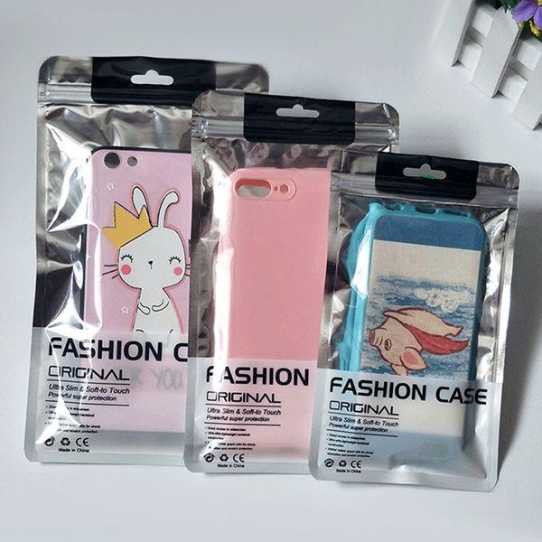 Für iphone xs max xr x 8 7 6 s plus case pvc kleinpaket tasche box für samsung s10 s9 s8 plus note 8 9 handy fall universal-verpackung