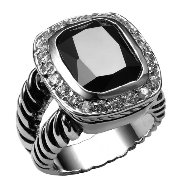 ring swimwear Hot Sale Black onyx 925 Sterling Silver High Quantity Ring For Men and Women Fashion Jewelry Party Gift Size 6