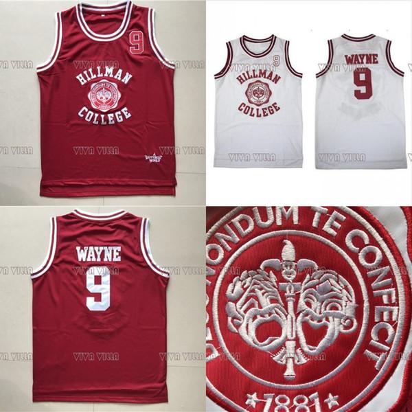 Wayne 9 Hillman College Theater Basketball Jersey All Stitched Men Movie Basketball Jerseys S-3XL Free Shipping