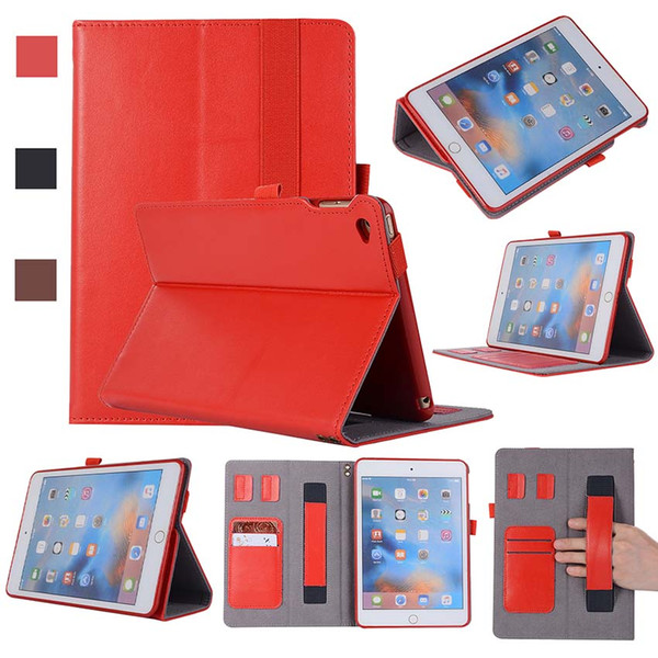 Classic Genuine Leather ipad Cover Case For iPad Mini 4 Air 5 6 12.9 with Stand Shockproof Real Leather Tablet Case Shell