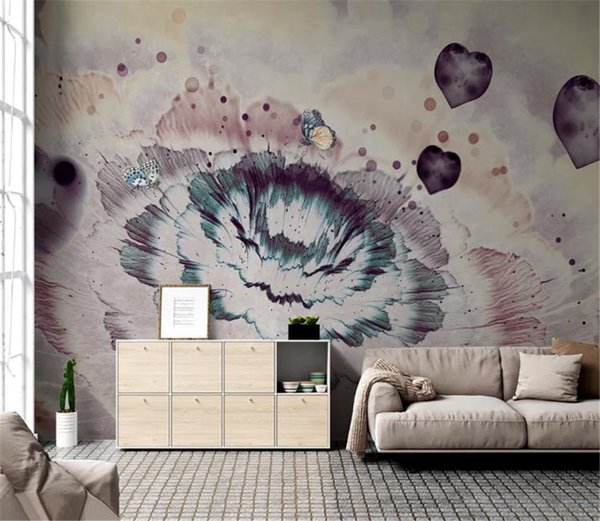 Custom Photo 3d Wallpaper Nordic Nostalgic Simple Abstract Embossed Floral Background Wall Paper Mural
