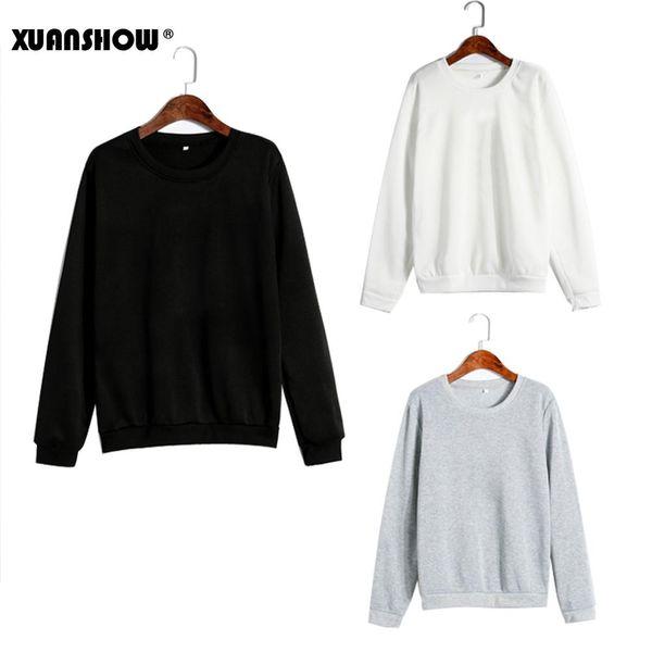 Повседневная унисекс Продается цвет одежды флис с длинным рукавом мужчина и женщина пуловер Bluzy Moletom Feminino Inverno S-5XL