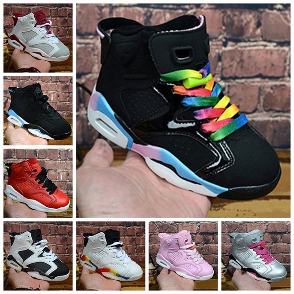 Kids 6 baby Basketball Shoes unc gold black red kid 6s Boys Girls luxury Designer Sneakers Children Sports trainers boots Size 28-35