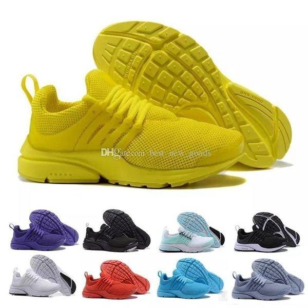 QS Nuovo PRESTO BR 2019 Breathe Giallo Nero Bianco Prestos Uomo Scarpe Sneakers Donna, Scarpe da corsa per uomo Scarpe sportive, Scarpe da passeggio