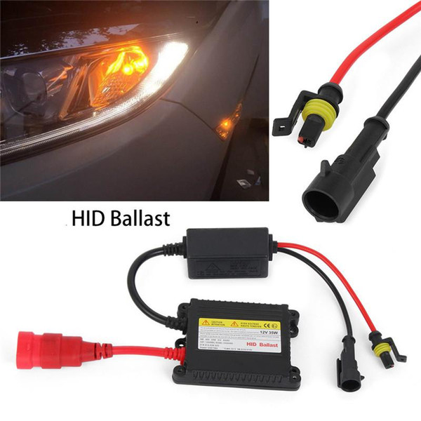 2PCS/Set DC 12V 55W Xenon Car Headlight Digital Ballast Slim HID Ballast Car Headlight Bulbs Replacement Conversion Kit