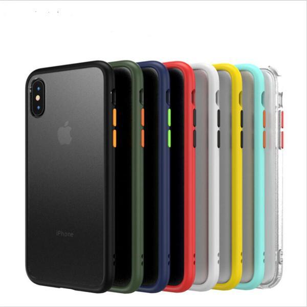 Coque pour pare-chocs TPU pour iphone 11 X XR XS Max 7 8 Plus + cache arrière mat antichoc transparent