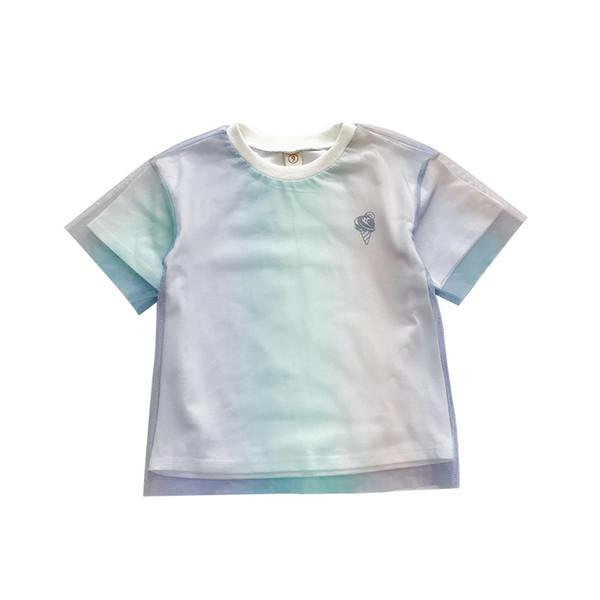 kids clothes girls t shirts lace rainbow kids t shirts Summer 2019 new princess T-Shirt loose Tee Shirt kids clothes A5681