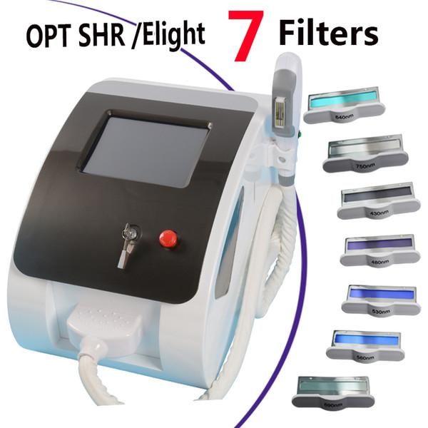 2019 أفضل آلة إزالة الشعر IPL Elight IPL تجديد الجلد 7 فلاتر OPT SHR IPL معدات إزالة الشعر بالليزر سبا صالون استخدام جهاز