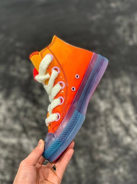Бесплатная доставка 2019 JW Anderson Chuck 70 Игрушка лакированная кожа повседневная обувь мужские и женские кроссовки скейтборд обувь размер 35-44