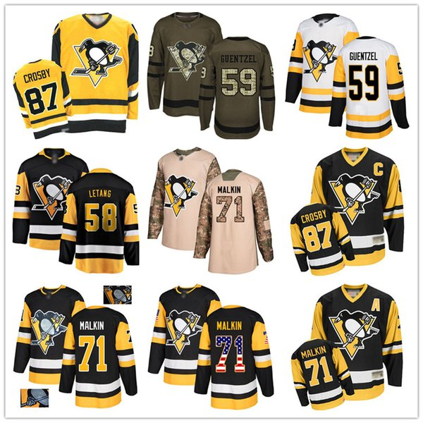 top popular Custom Pittsburgh Penguins 66 Mario Lemieux 87 Sidney Crosby 71 Evgeni Malkin 59 Jake Guentzel 58 Kris Letang 72 Patric Hornqvist USA Flag h 2019