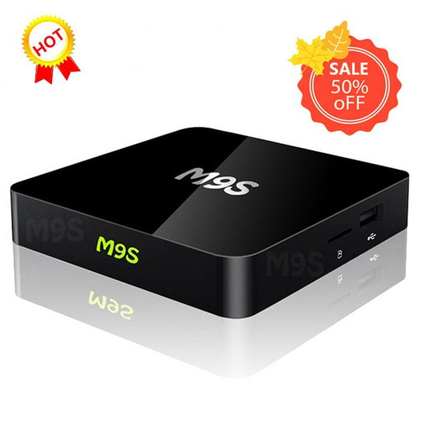 M9S X1 Android 6.0 TV BOX Smart Mini PC Amlogic S905X Quad Core H.265 Media Player 2.4GHz Wifi HDMI 2.0A Game 1080P DHL Free 5 PCS