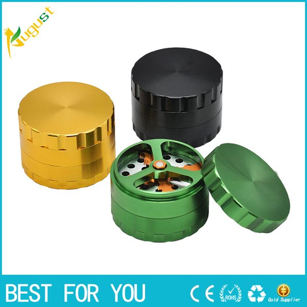 New Luxury Dry Herb/ Tobacco Grinder with Cutting Blades, 63mm/2.5 Inch Patented Aluminum DIY Crusher grinder Smoking accessory