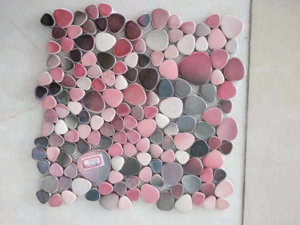 55 metros quadrados de porcelana seixo mosaico rosa cinza branco azul verde cinza telha cerâmica backsplash revestimento da parede do banheiro piscina telha
