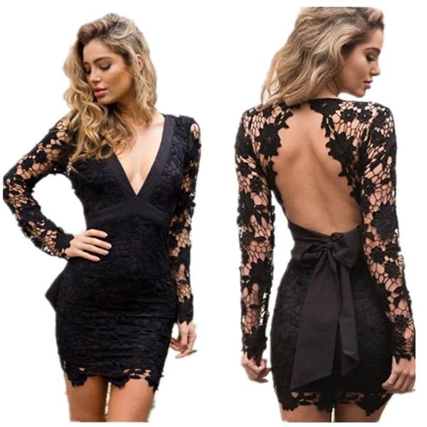 Compre 2019 Nuevos Modelos Euro American Pop Up Sexy Encaje Vestido De Encaje Cosido A 2614 Del Alice1698 Dhgatecom