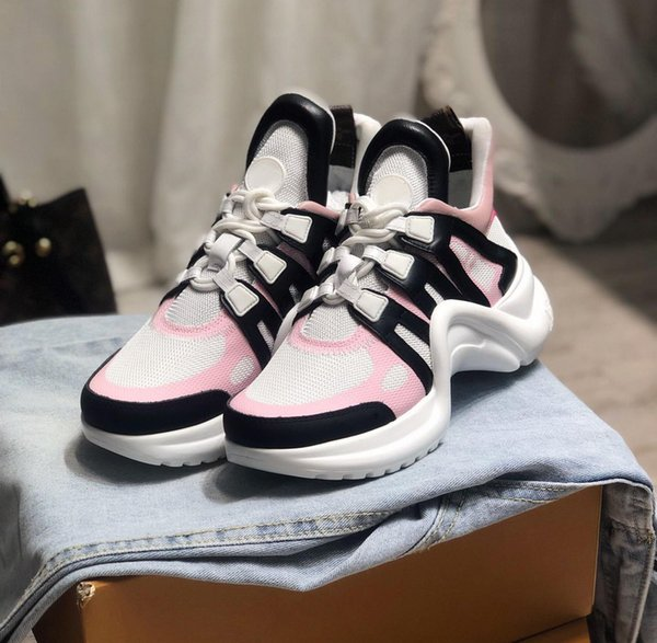 New Luxury designer brand sneakers for men fashion black suede pink white mesh patchwork trainers male classic causal shoes 38-44
