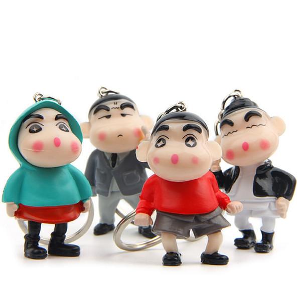 4cm mode niche bande dessinée main créative clé chaîne de voiture porte-clés couple coréen sac pendentif mignon mini pendentif 4pcs / pack hys334