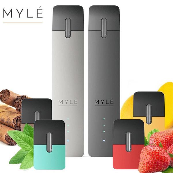 Myle ND Pen Starter Kit Clone 240 мАч Портативное устройство Vape Pod с 4 различными стручками Простой пакет Полный пакет CCA11564 40шт