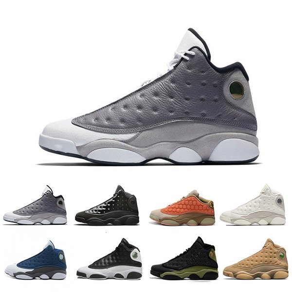 best selling 2019 13s Atmosphere Grey Mens Basketball Shoes Altitude Black Cat Playoffs Hyper Royal Ltaly Blue Bred Chicago Designer Sneakers Size 13