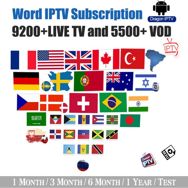 abbonamento IPTV canale Francia Stati Uniti Regno Unito Germania Paesi Bassi Polonia: Australia 9200+ vivo globale e VOD compatibile firestick Android Smart TV