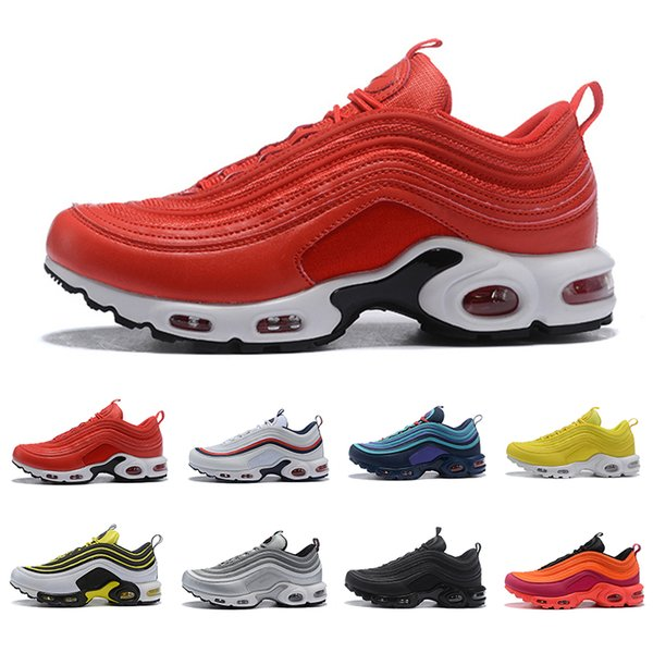 Drop shipping Gym red TN plus Men women Running Shoes Triple Black Yellow Outdoor Training Sports Mens Trainers Zapatos Sneakers 36-45