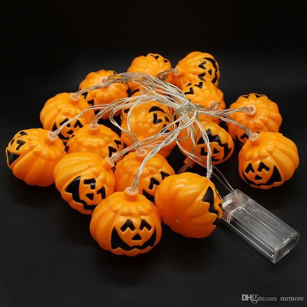 3,5 mètres 16 LED Pumpkin Fairy String batterie exploité pour Halloween éclairage Garden Party Décoration de Noël