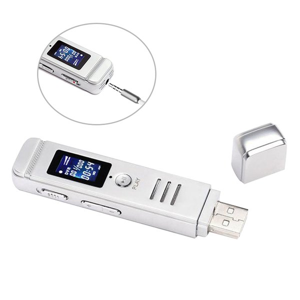High Quality Digital Voice Recorder with Microphone USB Disk Recorder Voice Recorders with Screen Metal High-fidelity Recording