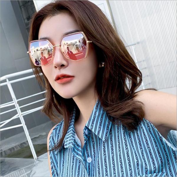 e5925b80b9924 Retro Polygon gafas de sol de marca de lujo diseñador de tonos de moda para  mujeres