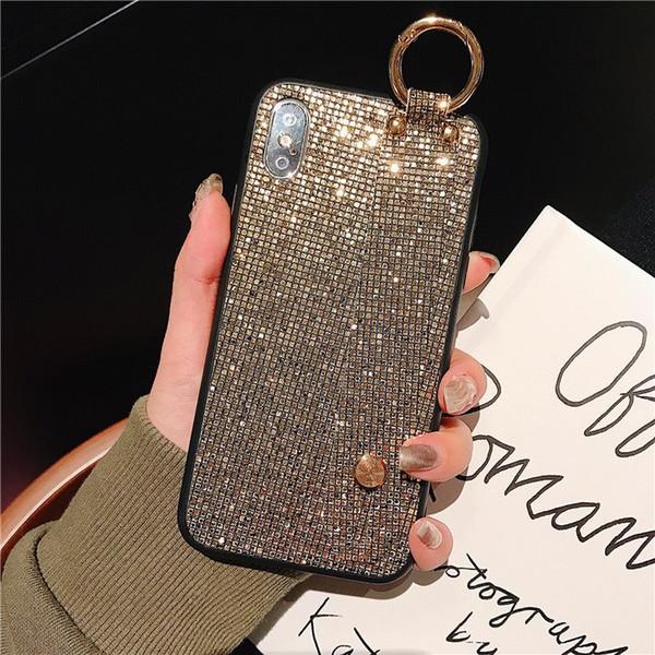 Mytoto Fashion metal personalità scintillio wristband flash drill bordatura cassa del telefono della ragazza per iphone 6 6 s plus 7 8 plus x xr xs max