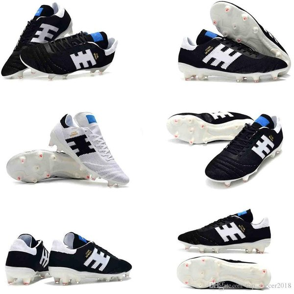 2019 Soccer Cleats Copa 70Y FG Original Soccer Shoes New Arrival Mens 70 Year Limited-Edition Football Boots Leather black white 39-45