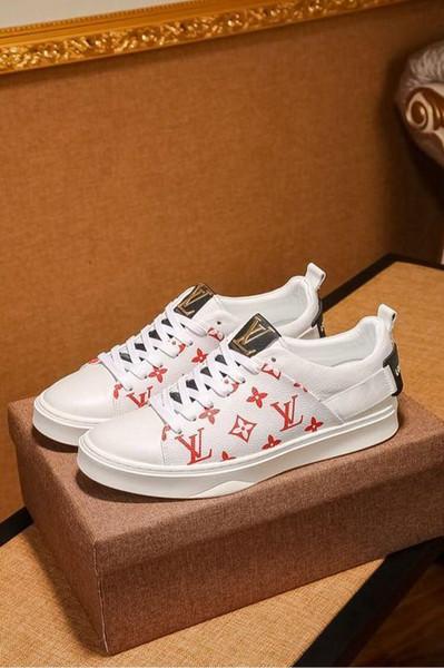 Cuir de veau imprimé Chaussures Décontractées neuves 2039 Guan Hommes Chaussures Habillées Bottes Mocassins Pilotes Boucles Baskets Sandales