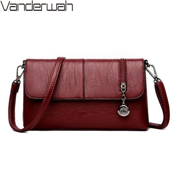 New Zipper Womens Luxury Leather Clutch Bag Lady Handbags Brand Women Messenger Bags Sac A Main Femme Nice Bolsa Sac A Main