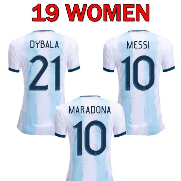 Arjantin Kadınlar futbol forması 2019 2020 Copa Amerika Kadın MESSI DYBALA AGUERO HIGUAIN tayland futbol gömlek Camisetas de futbol