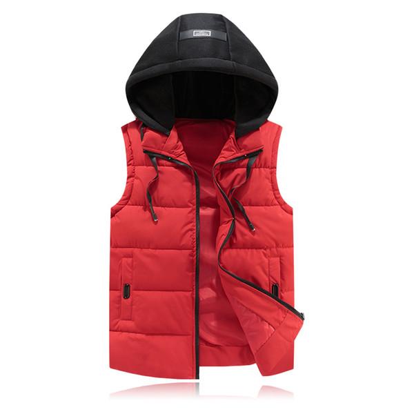 Vest Men New Stylish 2018 Autumn Winter Warm Sleeveless Vest Hat Hoode Jacket Waistcoat Men's Fashion Casual Coats Mens
