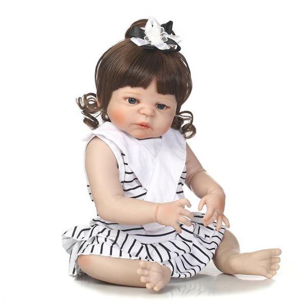 Bebe Reborn reborn baby girl doll full vinyl silicone soft real gentle touch toys or gift for children Birthday and Christmas
