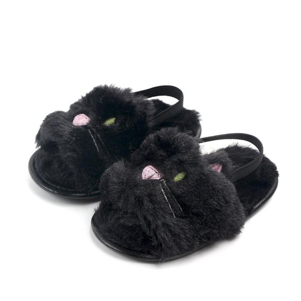 New Baby Fur sandals 2019 summer Fashion Kids unicorn cat panda Slippers infant First Walkers newborn Walkers shoes kids cute First Walkers