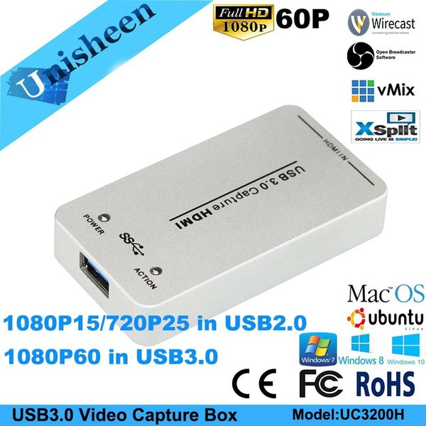 2019 USB3 0 Video Capture Card Box SDI HDMI 1080P60 Video Capture Dongle  Game Streaming Windows10 Linux Mac Vmix Obs Wirecast From Unisheen, $107 64  |
