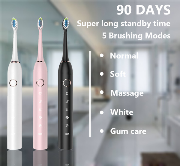 2019 Best Selling Electric Toothbrush Gum Care & Massage Ipx7 Waterproof Automatic Wireless Adults Sonic Electric Toothbrush