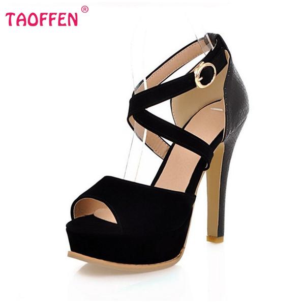 Livraison gratuite qualité sandales à talons hauts mode femmes habillées sexy chaussures plateforme pompes P13850 vente chaude EUR taille 32-42