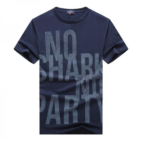 NEW 2019 Luxury Shark Brand design Short Sleeve Men's T-shirts 331 Fashion Italy P&S casual style PSY Summer Business cotton Yacht Club Tees