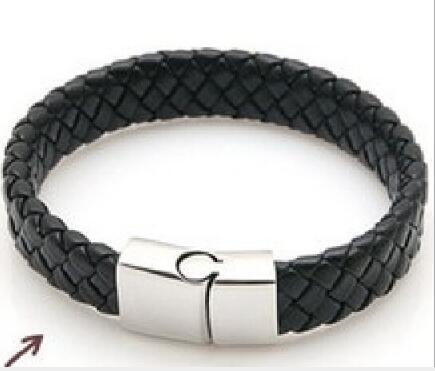 Europäische und amerikanische Retro-Armband Leder Herren Magnet Armband Anti-Allergie-Persönlichkeit Armband W1250