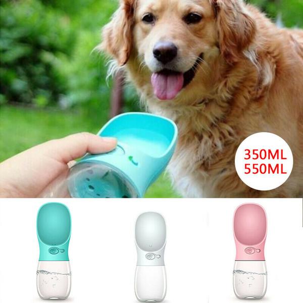 Küçük Büyük Köpekler Seyahat Yavru Kedi İçme Bowl Açık Pet Su Sebili Besleyici Pet Ürün İçin BPA içermeyen Hayvan Köpek Su Şişesi