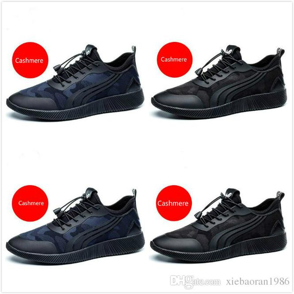 2017 new design top quality luxury designer men Genuine Leather lace up fashion black sneakers causal shoes size 38-44
