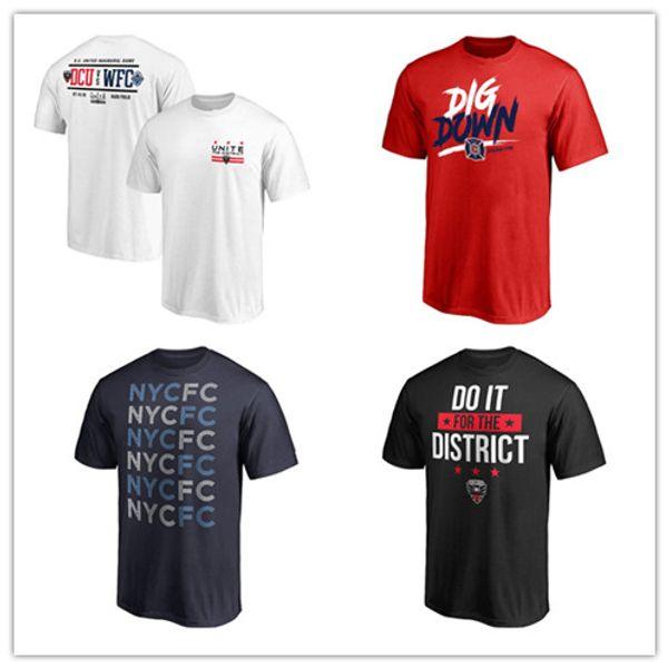 Дизайнер MLS футболка Джерси Футболки мужские Спортивные футболки Модные бренды Футболки с коротким рукавом 3D печать логотипов Униформа и пиджаки Футболки мужские